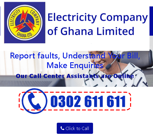 How to contact ECG customer care in Ghana